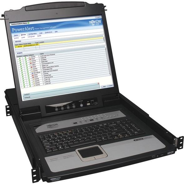 """Tripp Lite 16-Port IP KVM Switch Rack Console w/ 19"""" LCD 1U - B020-U16-19-IP"""
