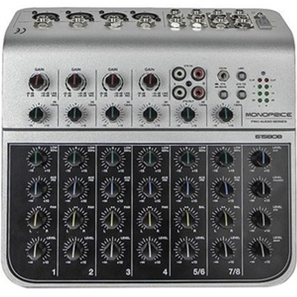 Monoprice 8-Channel Audio Mixer with USB - 615808