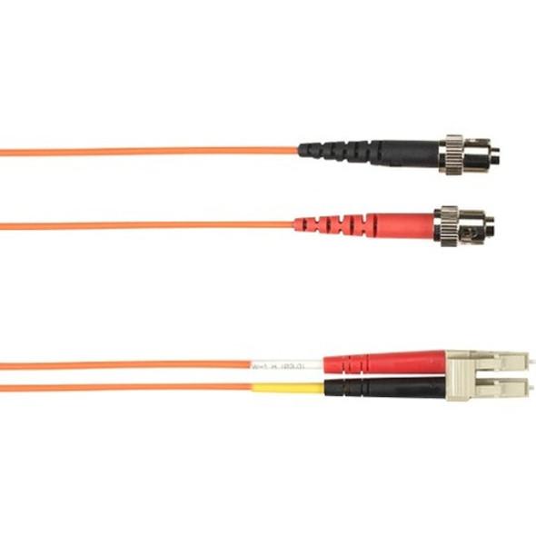 Black Box 10-m, ST-LC, 62.5-Micron, Multimode, Plenum, Orange Fiber Optic Cable - FOCMP62-010M-STLC-OR