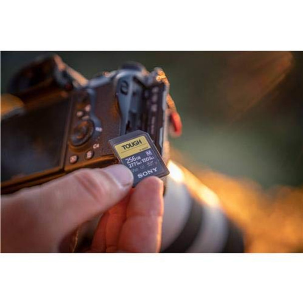 Sony TOUGH-M series SDXC UHS-II Card 128GB, V60, CL10, U3, Max R277MB/S, W150MB/S (SF-M128T/T1)