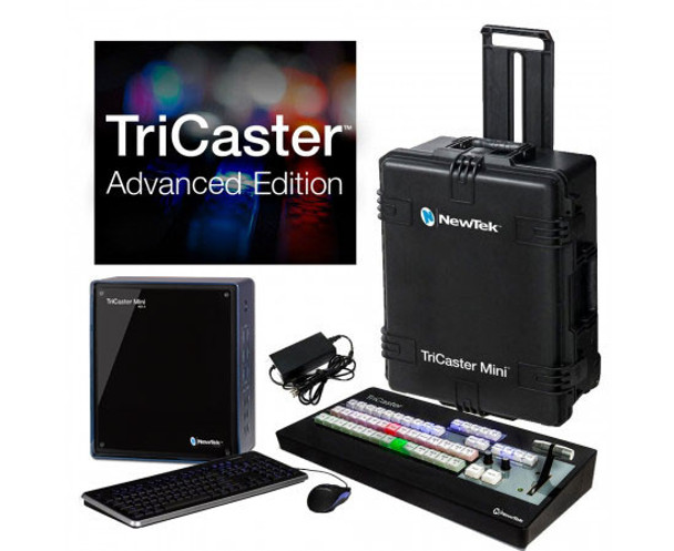 NewTek TriCaster Mini HD-4 Bundle With Control Surface & Travel Case