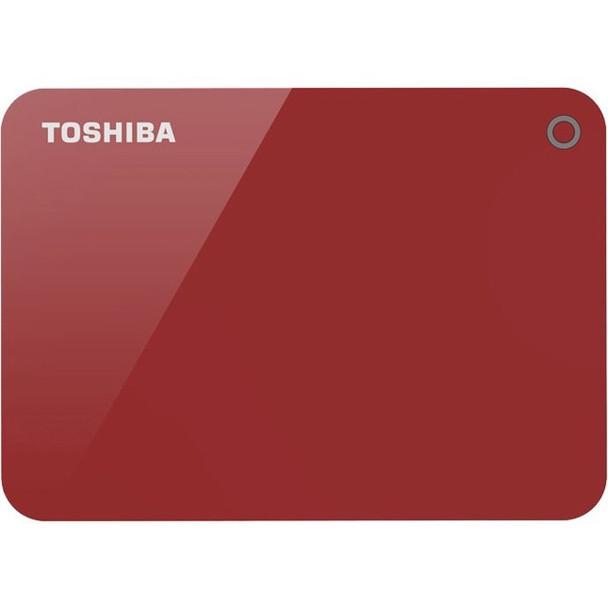 Toshiba Canvio Advance HDTC910XR3AA 1 TB Portable Hard Drive - External - Red - HDTC910XR3AA