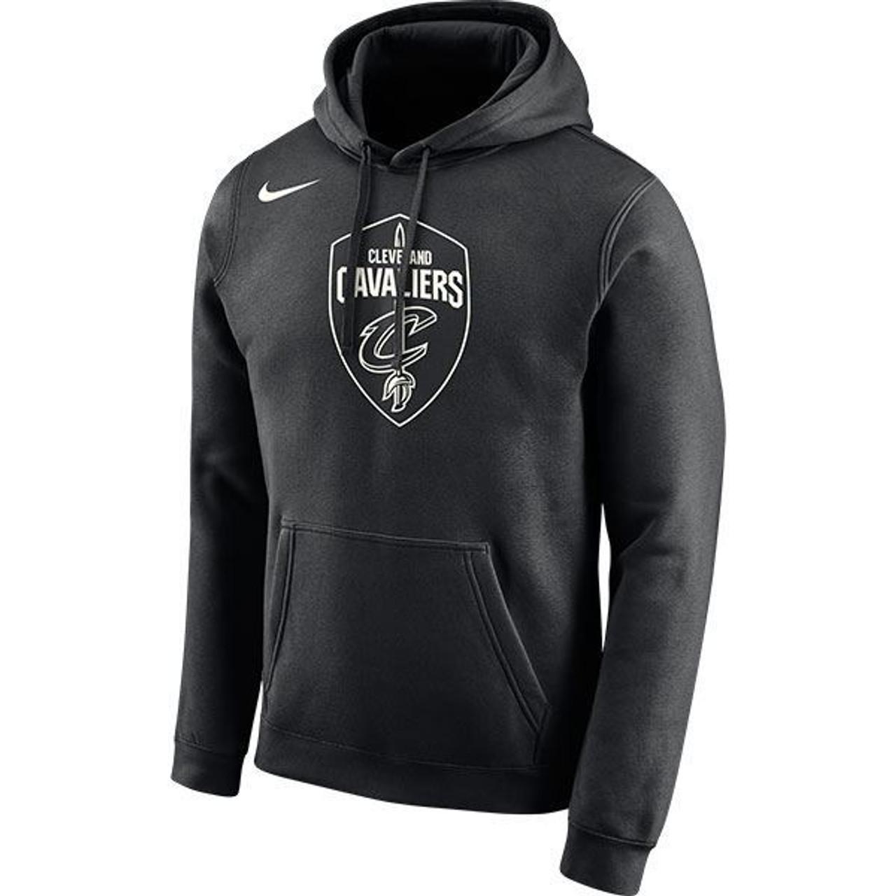 c3a08e48ea5b Nike Black   White Global Shield Hoodie - Cleveland Cavaliers