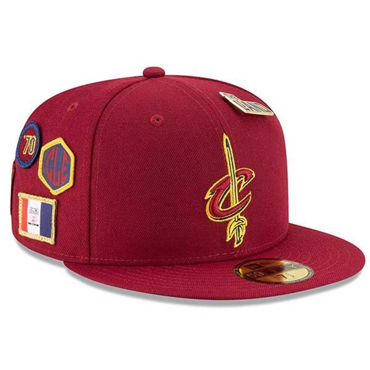 450ff6a79d3 18-19 Draft Series Fitted Wine Cap - Cleveland Cavaliers