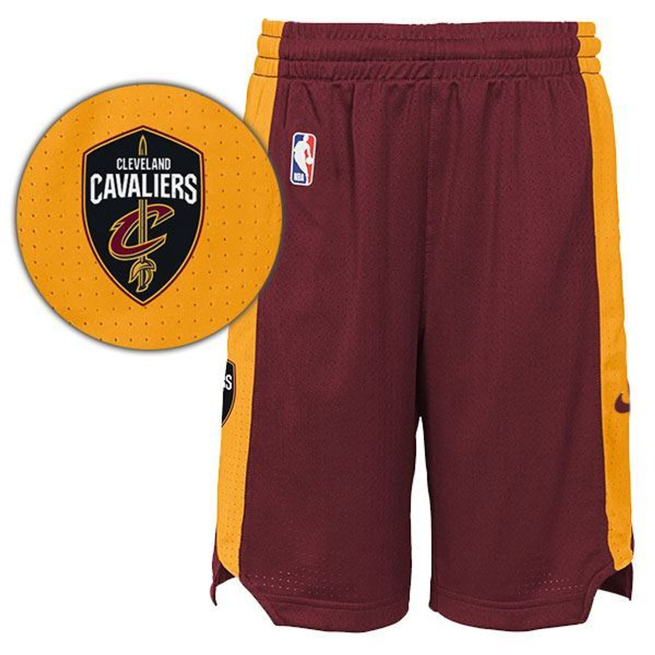 98a6e135a2 Big Kids Nike Pro Mesh Practice Shorts - Cleveland Cavaliers