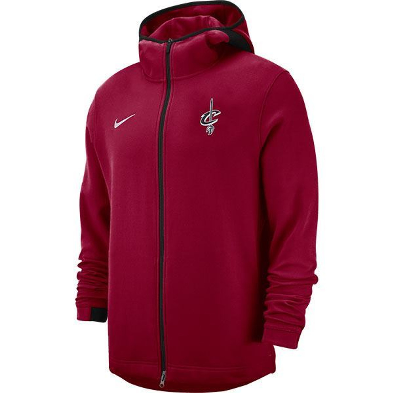 a74f134388e8 Nike Wine Showtime Full Zip Hoodie - Cleveland Cavaliers