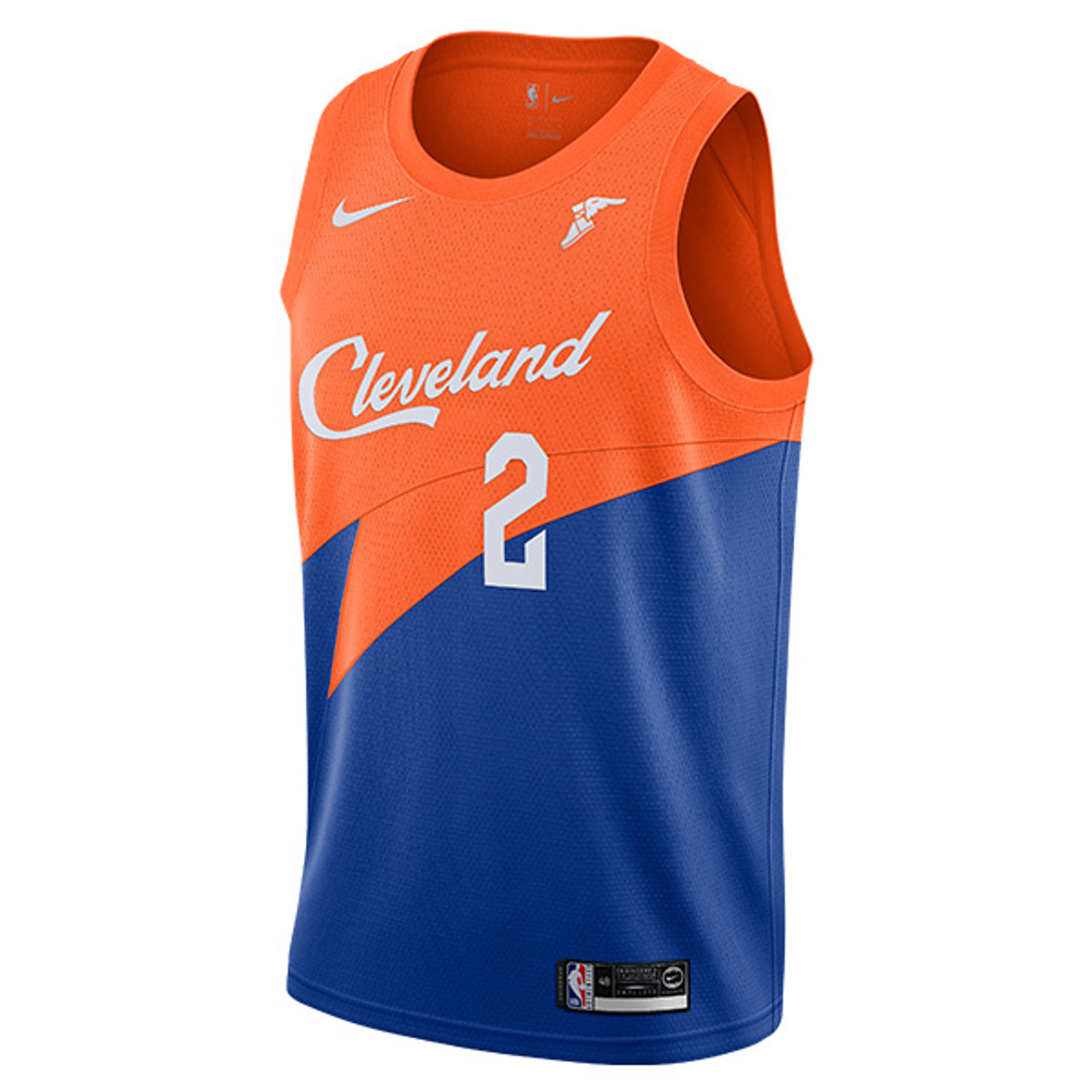 2e4967079ab Collin Sexton Royal Blue   Orange City Edition Swingman Jersey with  Goodyear Wingfoot by Nike