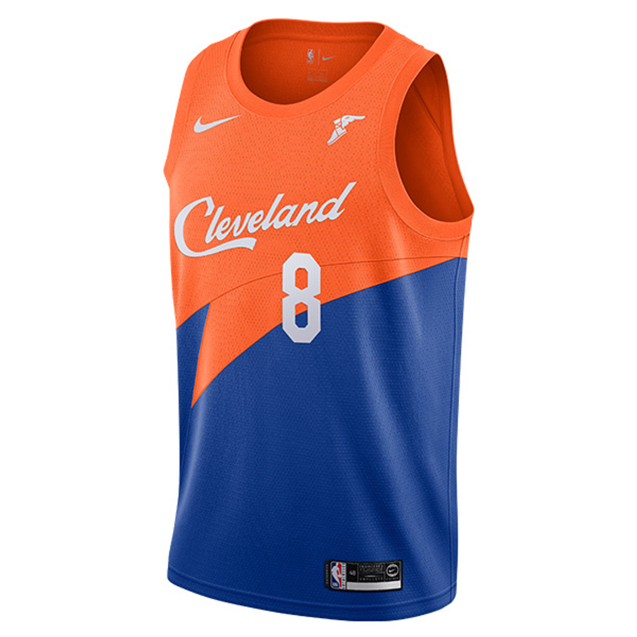 1c992853d2f3 Jordan Clarkson Royal Blue   Orange City Edition Swingman Jersey with  Goodyear Wingfoot by Nike