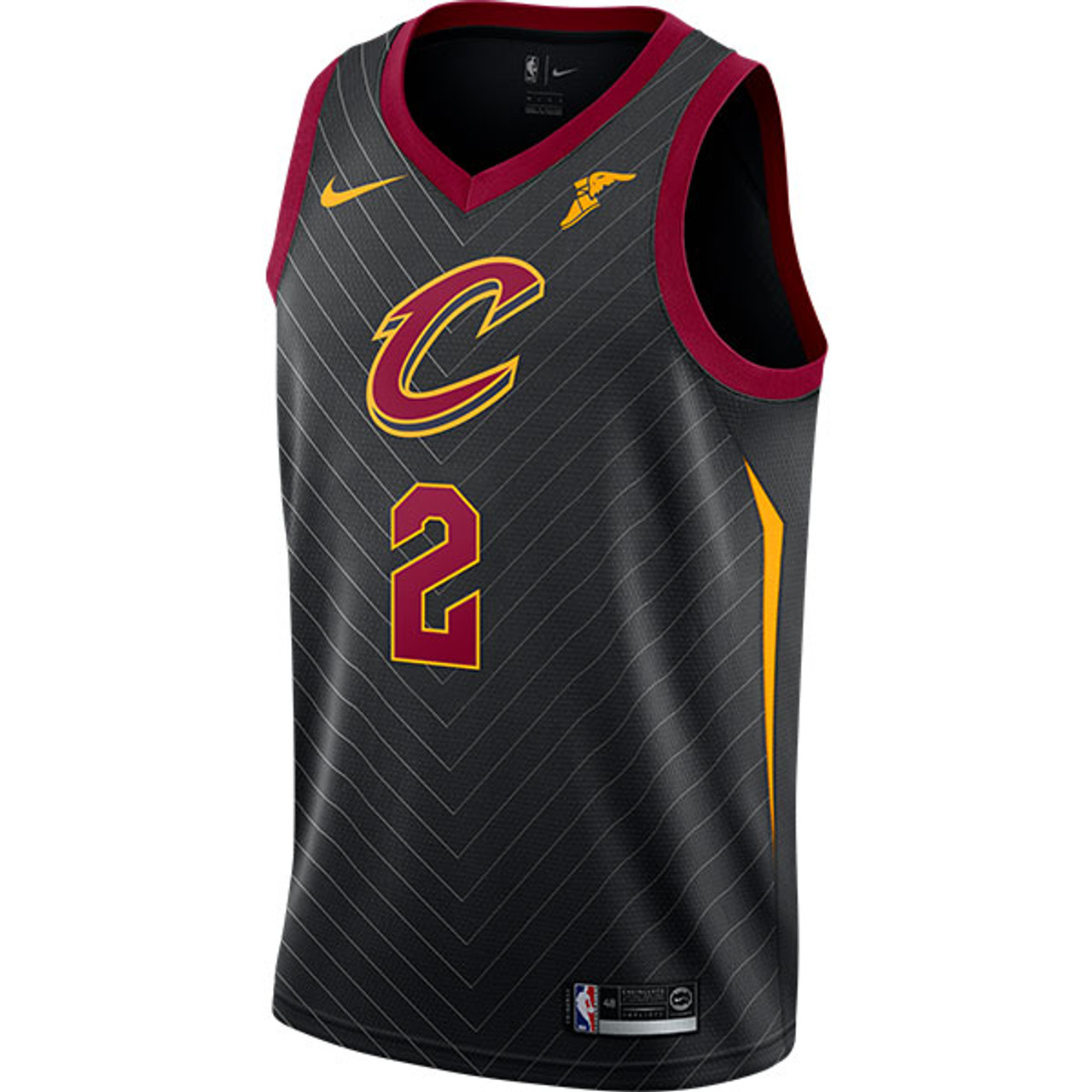 e93976ff71b #2 Collin Sexton Black Statement Edition Swingman Jersey with Goodyear  Wingfoot by Nike