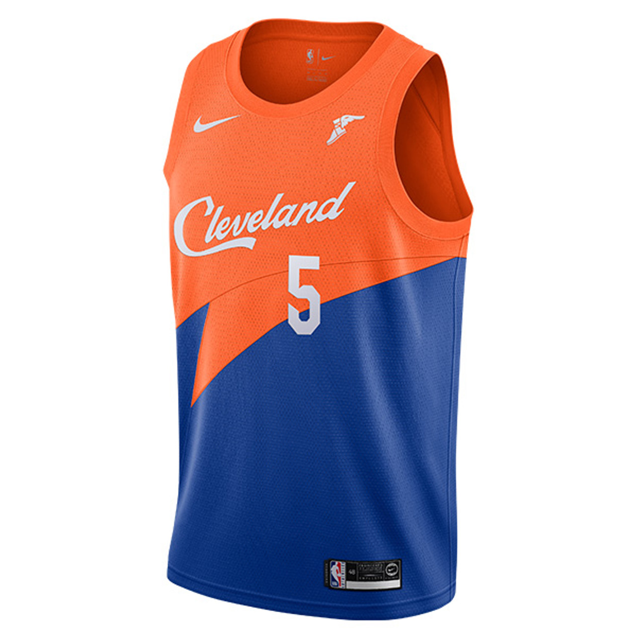 c15042669 Royal Blue   Orange JR Smith Cleveland City Edition Swingman Jersey with  Wingfoot by Nike