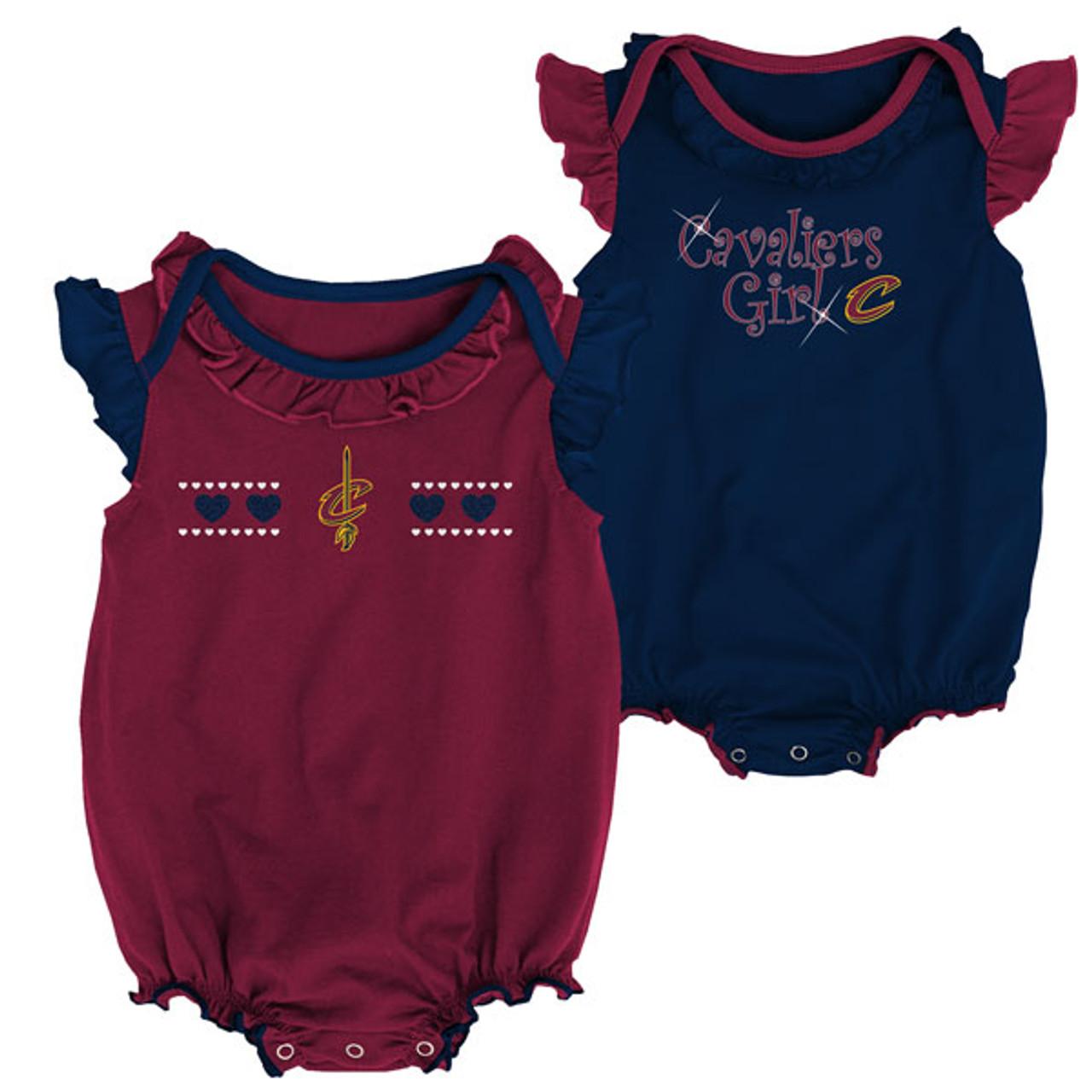 newest collection e94be b43d2 Newborn Cavs Girl 2 Piece Onesie Set