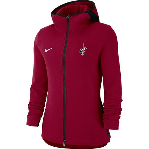 Hoodie Cleveland Nike Zip Cavaliers Full Wine Ladies Showtime doQWrxeCBE