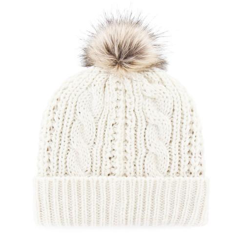 f5d70d4de Cozy Cream Knit Hat with Faux Fur Pom