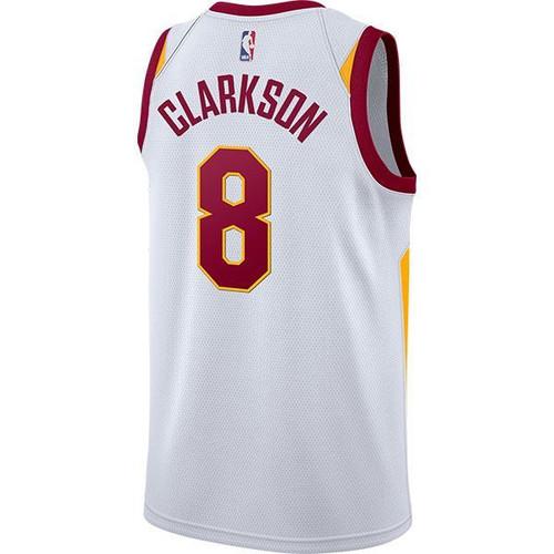 d1da939c897d10 WHITE  Big Kids  8 Jordan Clarkson Jersey with Wingfoot - Cleveland ...