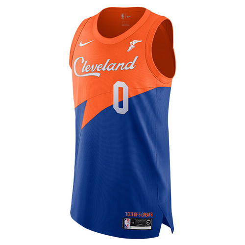 1ce0bfa82e2 Royal Blue   Orange Kevin Love Cleveland City Edition Authentic Jersey by  Nike