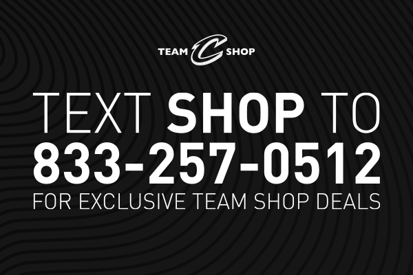 Text us! Be the first to know about the latest Cavs jerseys & deals.