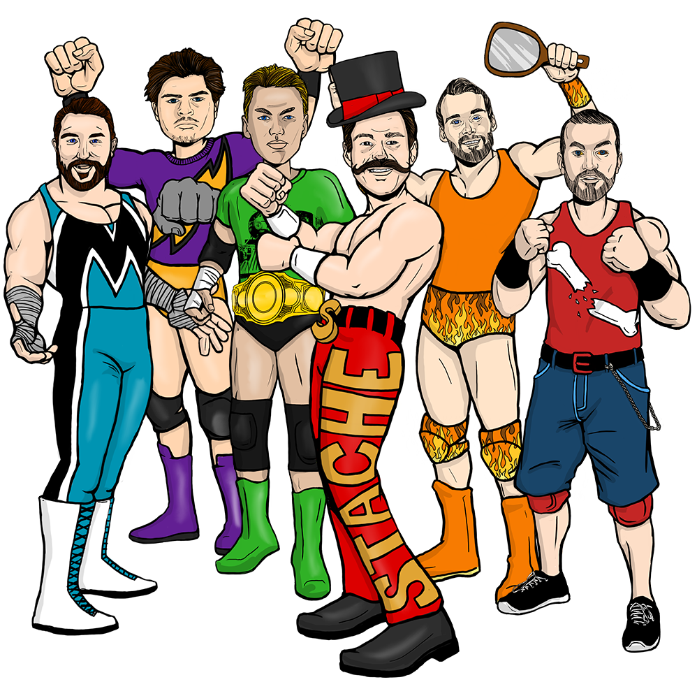 Get in the ring with the Monsters Wrestling Collection
