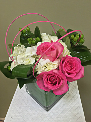 This Pop of Pink arrangement is sure to brighten anyone's day!