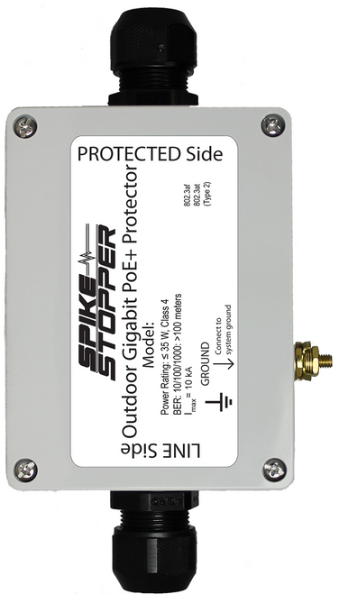 Spike Stopper™ SCP4X  Outdoor Security Camera Surge Protector