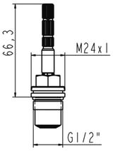 H960520 Ideal Standard Jado Ceramic Cartridge Clockwise Hot H2618A FTB143 5055639137929