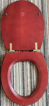FixTheBog Replacement Toilet Seat for Ideal Standard Traditional in Mahogany with Chrome hinges and full fitting kit FTB9047 5055639172814