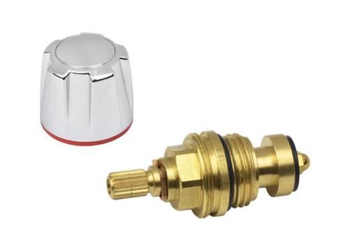 Aqualisa 173813 1/2 tap hot chrome knob assembly FTB6703 5023942009776