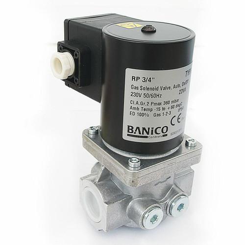 Banico ZEV20 3⁄4 BSP GAS SOLENOID VALVE 230VAC FTB5299 5055639125162