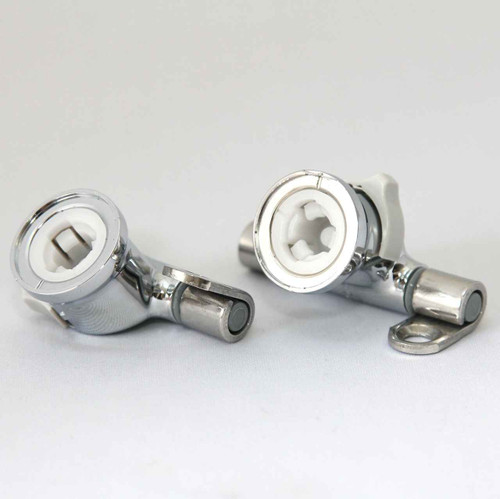 Roca Giralda Senso Removable Toilet Seat Hinge Set Easy Release Chrome Hinges FTB2045 5055639140288