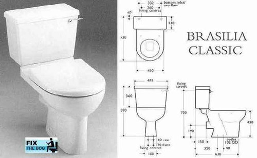 Ideal Standard Whisper Blue Brasilia Toilet Seat And Cover With Chrome Hinges FTB2150 5055639140783