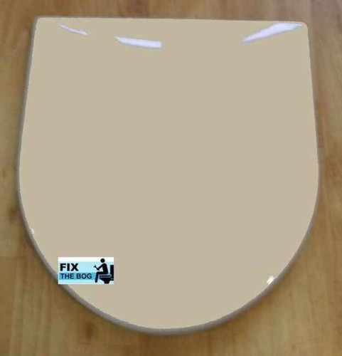 Ideal Standard Indian Ivory Brasilia Toilet Seat And Cover With Chrome Hinges FTB2136 5055639140646