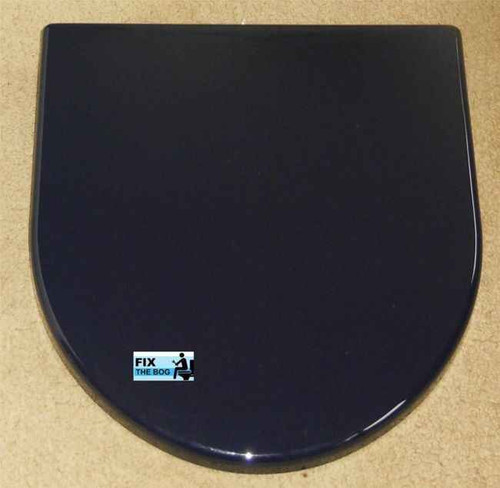 Ideal Standard Penthouse Blue Brasilia Toilet Seat And Cover With Chrome Hinges FTB2139 5055639140677