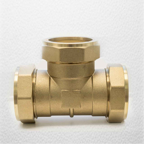 Trade Pack 2 X Ftd 54Mm Brass Equal Compression Tee Fitting FTB1512 5055639128712