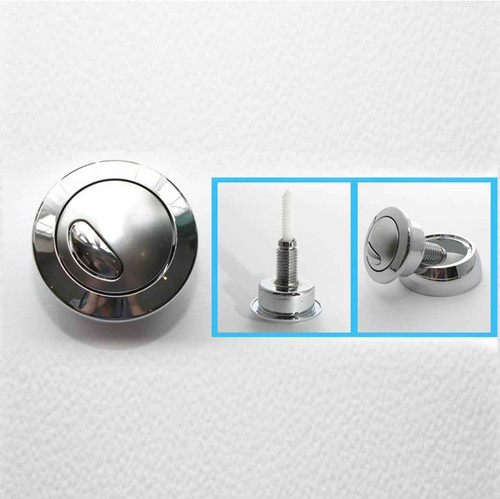 Siamp Optima 49 Toilet Push Button Dual Flush Water Saving Chrome Effect Wickes FTB1522 5055639142879