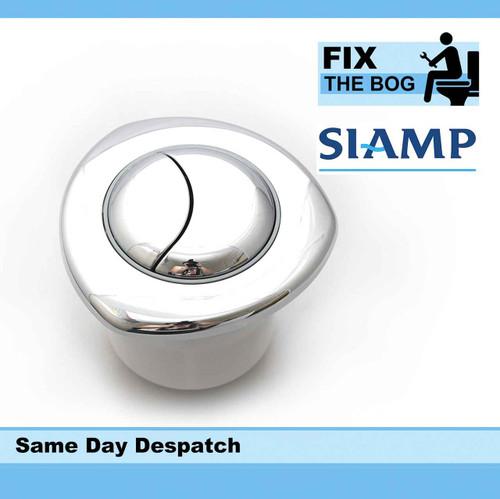 Siamp Dual Flush Chrome Plated Button Pneumatic Value FTB088 5055639139404