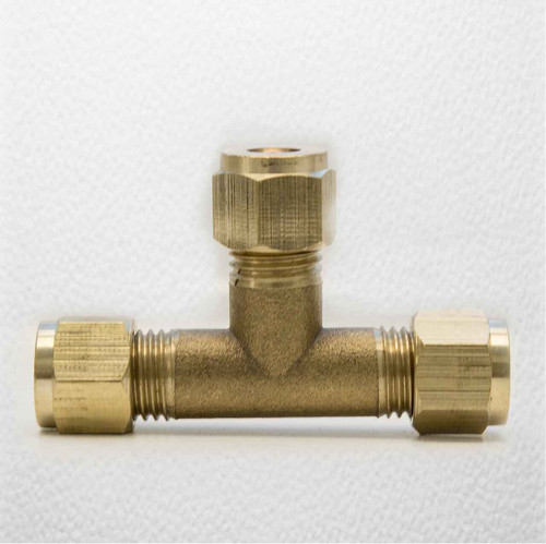 Ftd 6Mm Brass Equal Compression Tee Fitting FTB1471 5055639128408