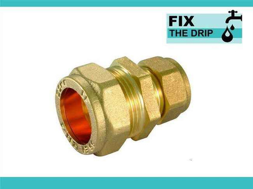 Ftd Straight Reducing Coupler Brass 28Mm X 15Mm Compression FTB1599 5055639129559