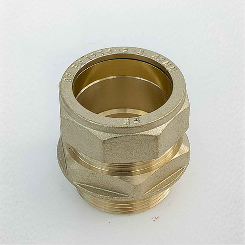 Ftd Straight Coupler Brass 42Mm Compression - 1 1/2 Inch Bspt Male Iron FTB1929 5055639129627