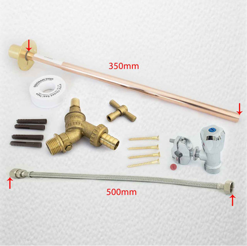 Outdoor Garden Diy Tap Kit Self Cut Anti Vandal Brass FTB1547 5055639198418