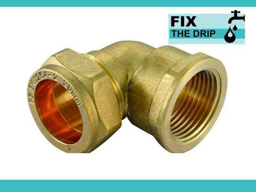 Ftd Brass Compression 22Mm X 1 Bspt Female Elbow Brass C X Fi FTB1633 5055639139930