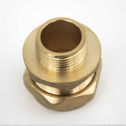 Ftd Straight Coupler Brass 28Mm Compression - 3/4 Inch Bspt Male Iron FTB1928 5055639139954
