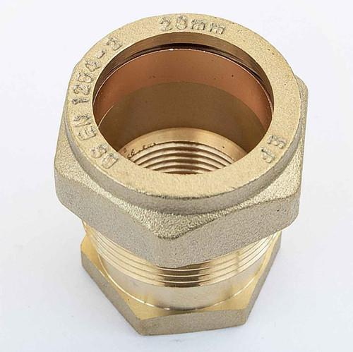 Ftd Straight Coupler Brass 28Mm Compression - 3/4 Inch Bspt Female Iron FTB1604 5055639129603