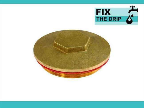 Ftd 2.1/4 Brass Immersion Heater Plug And Washer FTB1612 5055639129689