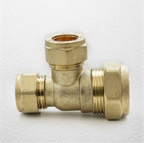 Brass Compression Reducing Tees 22Mm X 15Mm X 15Mm FTB1615 5055639129719