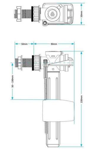 Skylo 10Mm Brass Side Entry Float Valve FTB1986 5055639139015