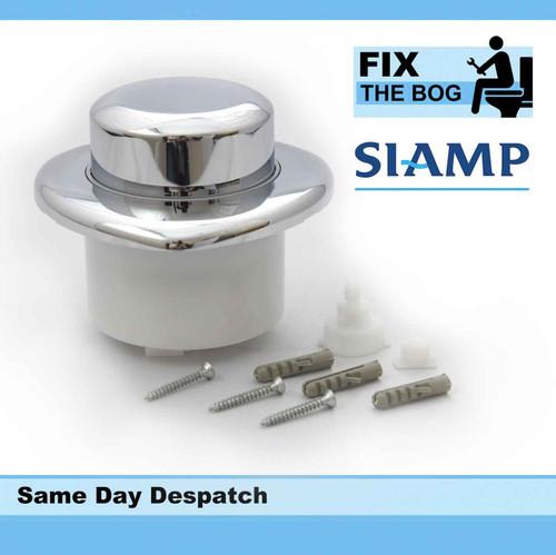 Siamp Doc M Easyflush Single Flush Chrome Plated Button Pneumatic Value FTB089 5055639139398