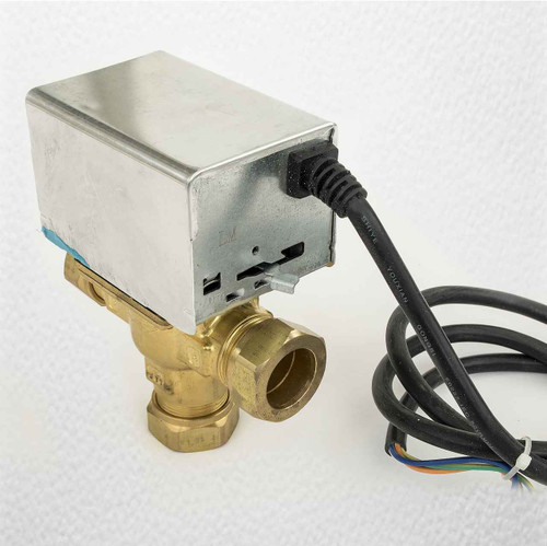 Motorised Diverter Priority Valve Actuator 3 Port 22Mm Can Replace V4043C FTB1968 5055639138698