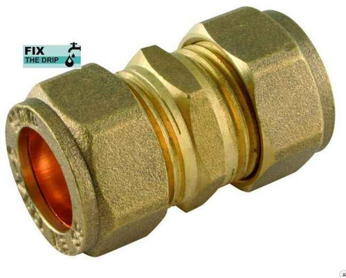 Trade Pack 10 X Ftd 22Mm Brass Compression Coupler Fitting FTB2021 5055639139985