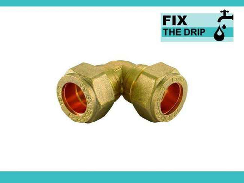 Trade Pack 3 X Ftd 22Mm Brass Compression Elbow Fitting FTB1366 5055639142633