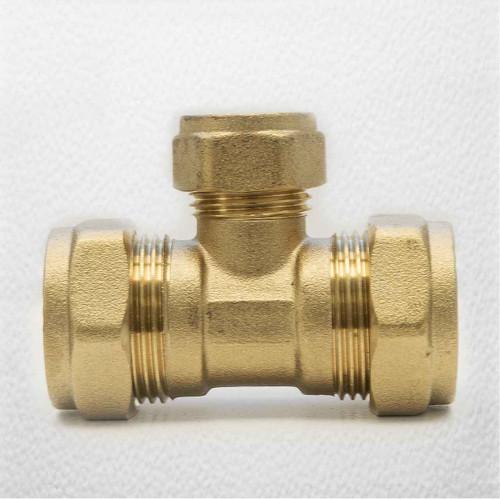 Ftd Brass Compression Reducing Tees 22Mm X 22Mm X 15Mm FTB1614 5055639129702