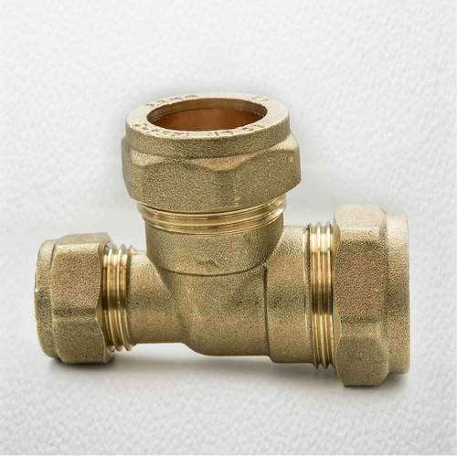 Brass Compression Reducing Tees 22Mm X 15Mm X 22Mm FTB1616 5055639129726